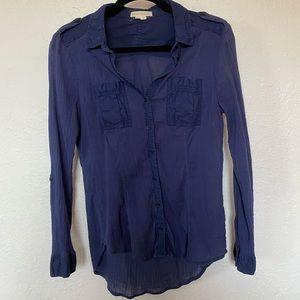 Navy blue Edme & Esyllte small button up blouse